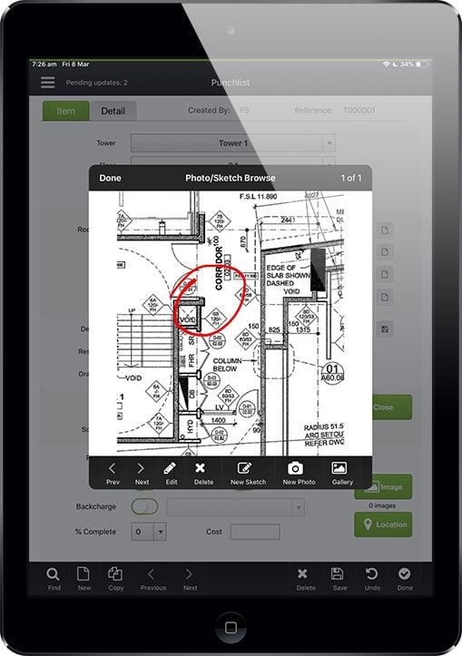 Data capture iPad