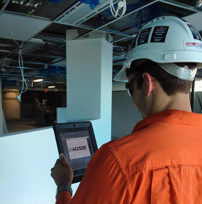 ACCEDE construction defect management system on-site